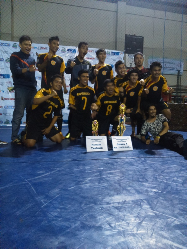 Para pemain tim futsal IKPMD Sumatera barat