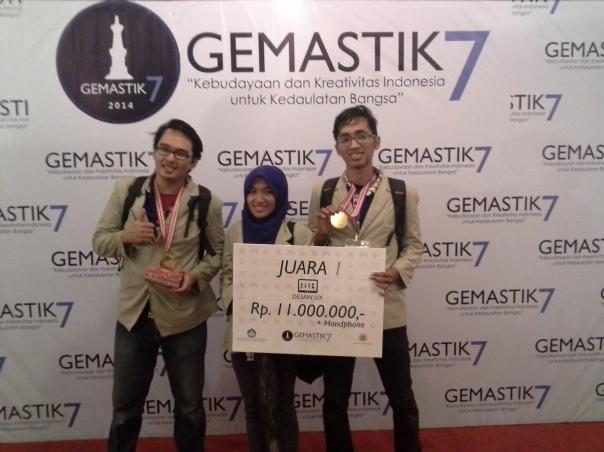 Tim UGM berhasil memenangkan juara 1 pada bidang desain UX