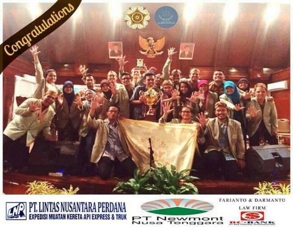 Tim ALSA UGM berhasil Juara 1 pada lomba NLMCC.